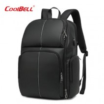 Coolbell Laptop Backpack, Business Anti Theft Waterproof Travel Backpack With USB Charging Port